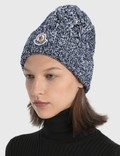 Moncler Pom Pom Beanie Blue Women
