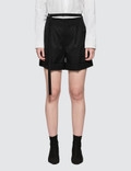 Helmut Lang High Waist Wool Shorts Picutre