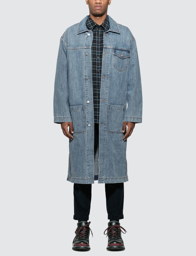 Martine Rose Denim Caretaker Coat