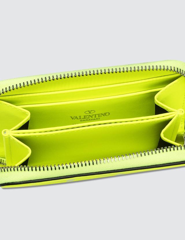 Valentino Valentino Garavani VLTN Wallet With Neck Strap