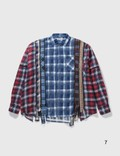 Needles 7 Cuts Zipped Wide Flannel Shirt Multicolor Men