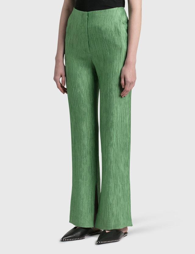 Nanushka Tabbie Pleated  Pants Green Women