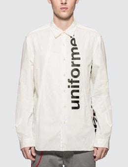 uniform experiment Gabardine Concealed Pocket Regular Collar Shirt