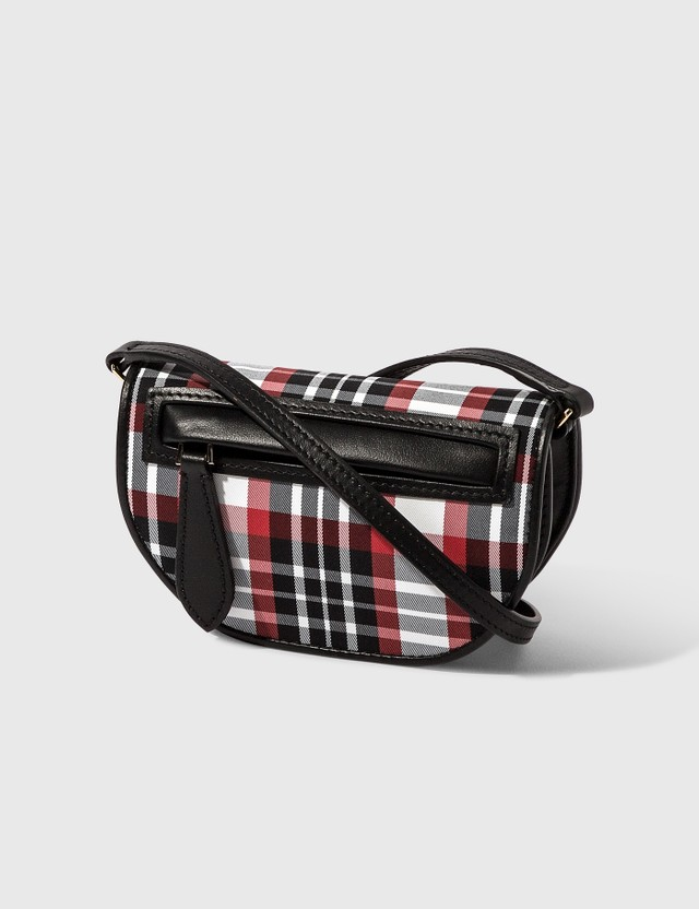 Burberry Knitted Tartan Olympia Card Case with Detachable Strap 6c Women