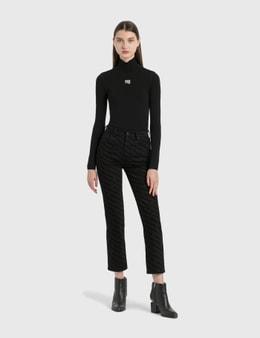 Alexander Wang.T High Rise Logo Print Jeans