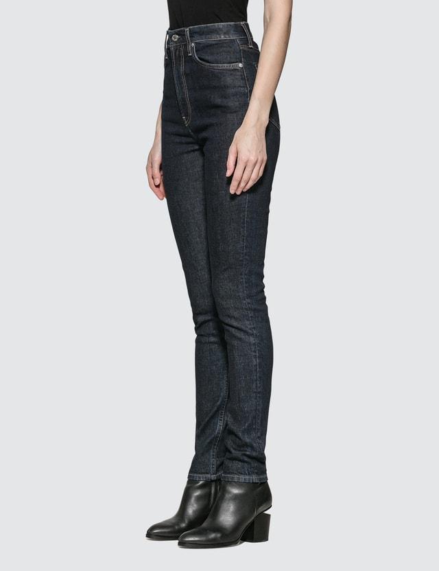 Helmut Lang Femme Hi Spikes Jeans Acc Dark Rinse Indigo Women