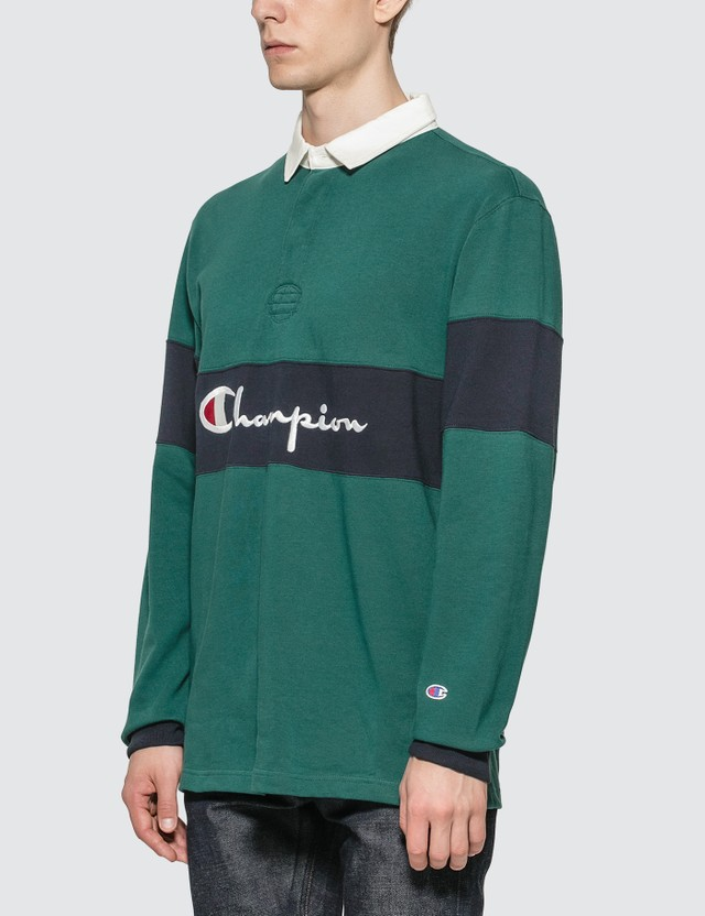 Champion Reverse Weave Big Script Rugby Shirt