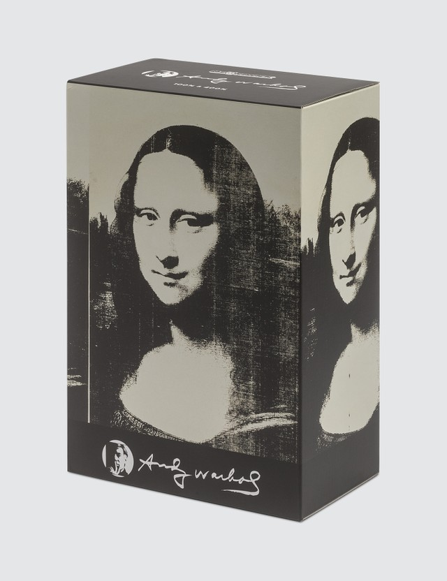 "Medicom Toy Andy Warhol ""Double Mona Lisa"" Be@rbrick 400% & 100% Set"