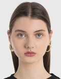 MM6 Maison Margiela Hoop Earrings Yellow Gold Women