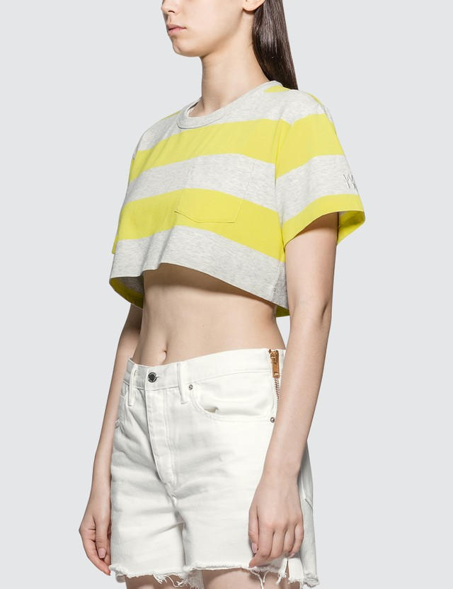 Alexander Wang.T Wash & Go Wide Stripe Cropped Top