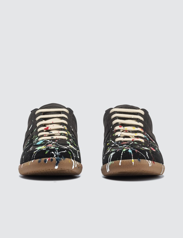 Maison Margiela Hand-painted Replica Sneakers Black Men
