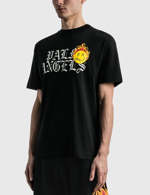 Palm Angels Burning Head Logo T-shirt Black Men