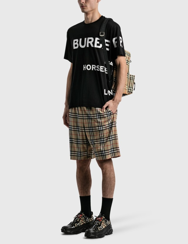 Burberry Horseferry Print Cotton Oversized T-shirt Black/white Men