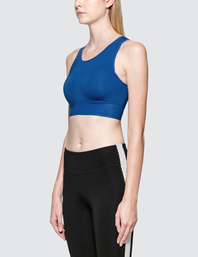 Calvin Klein Performance Hollow-out Back Bra Blue Women