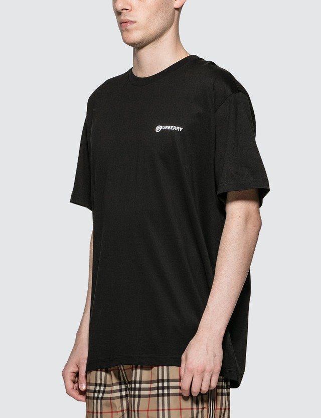Burberry Location Print Cotton Oversized T-shirt