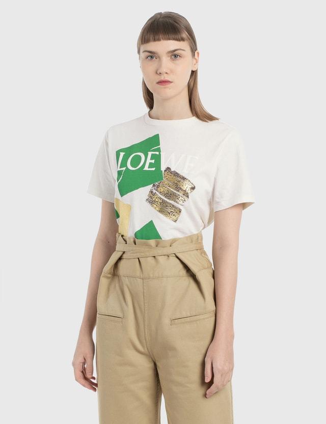 Loewe Squares Print T-Shirt White Women