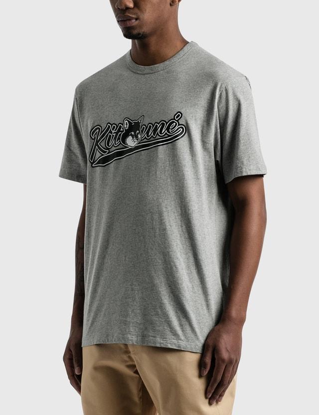 Maison Kitsune Varsity Fox Classic T-shirt Grey Men