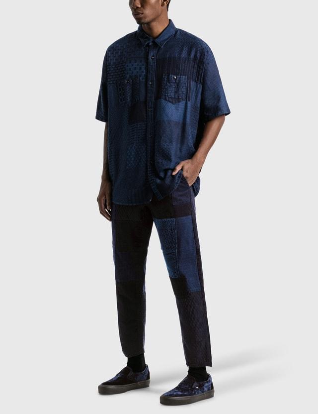 FDMTL Rinse Boro Patchwork Pants Indigo Men