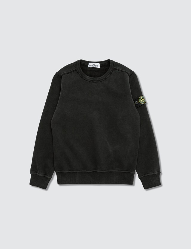 Stone Island Compass Logo Patch Sweatshirt (Kids) Black Kids