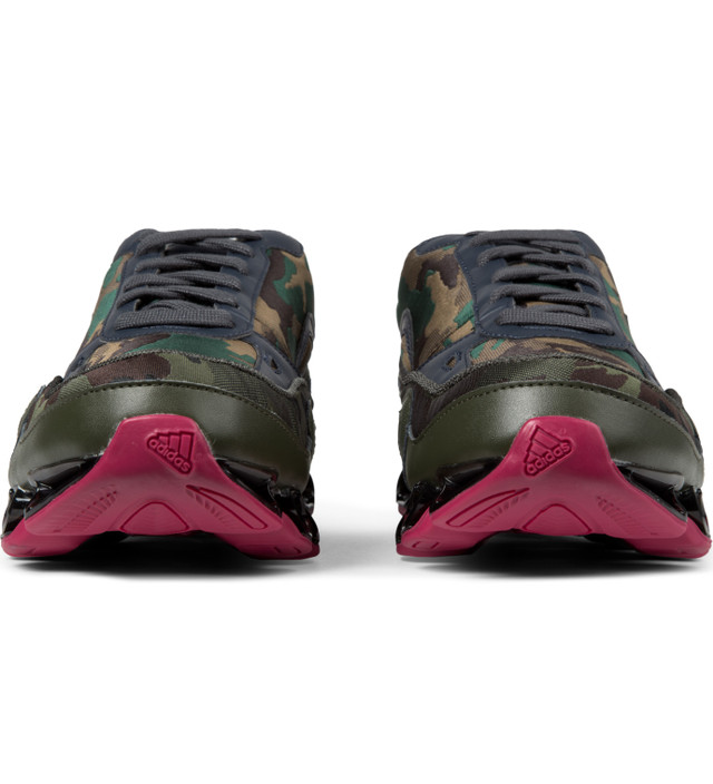 Adidas Originals Pink/Camo Raf Simons x Adidas Bounce Sneakers