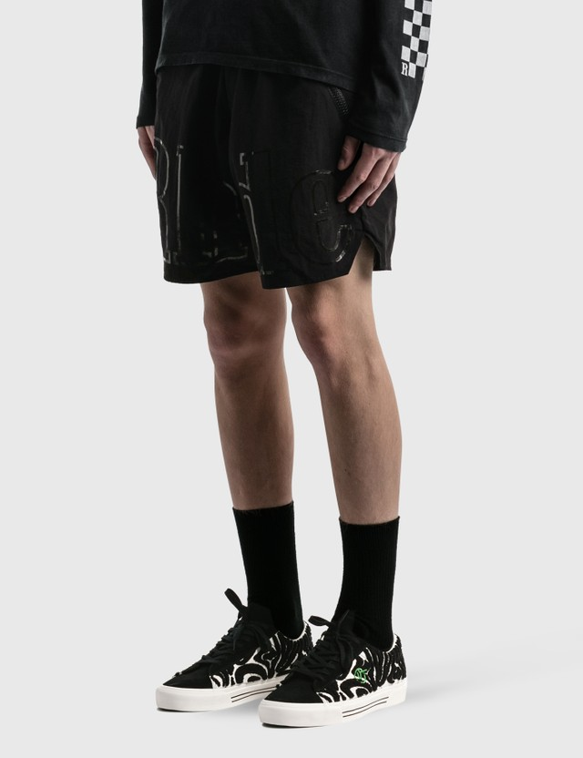 Rhude Oversized Logo Shorts Black Men