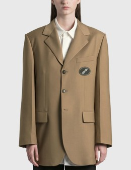 We11done Suit Logo Blazer