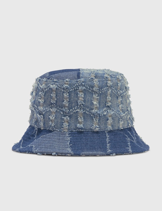 Kangol Denim Mash-up Bucket Hat