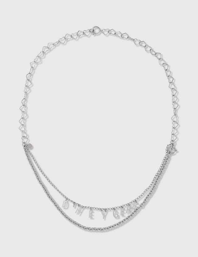 D'heygere Logo Chain Silver Unisex