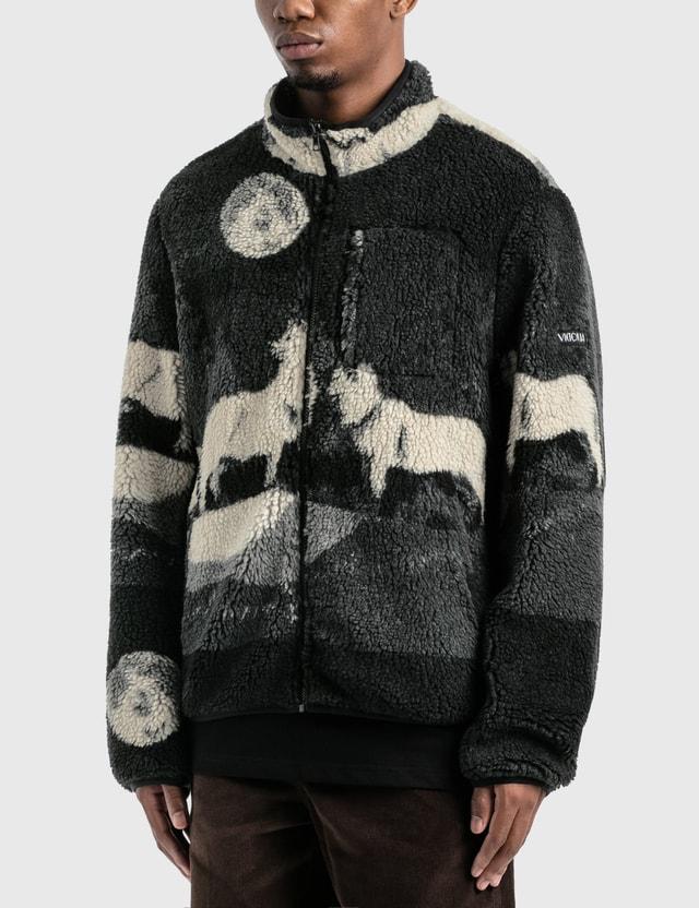 Victoria Wolves High Pile Fleece Jacket