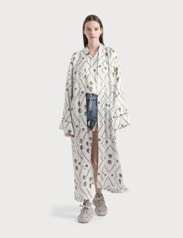 Kirin All Over Masks Kimono Robe