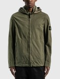 Stone Island Cotton Blended Jacket With Detachable Hood Picutre