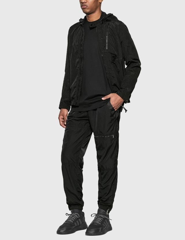 CP Company 나일론 셔츠 재킷 위드 고글 후드 Black Men