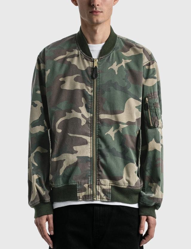 Fostex Garments Vintage Wash Camo Bomber Jacket Camo Men