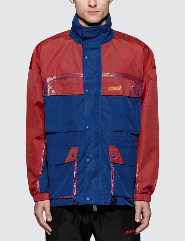 Heron Preston Nylon Multicolor Hooded Jacket
