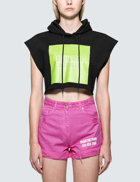 MSGM Chromotherapy Crop Hoodie