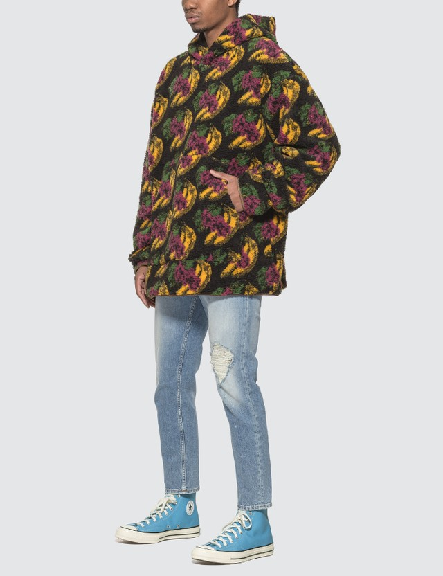 Acne Studios Sherpa Fruit Hoodie Black Men