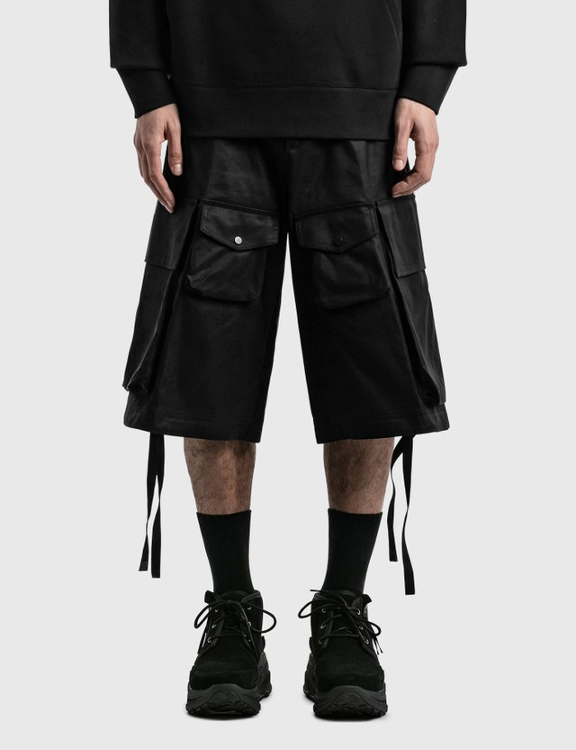 Moncler Genius 1952 Wide Cargo Shorts Black Men