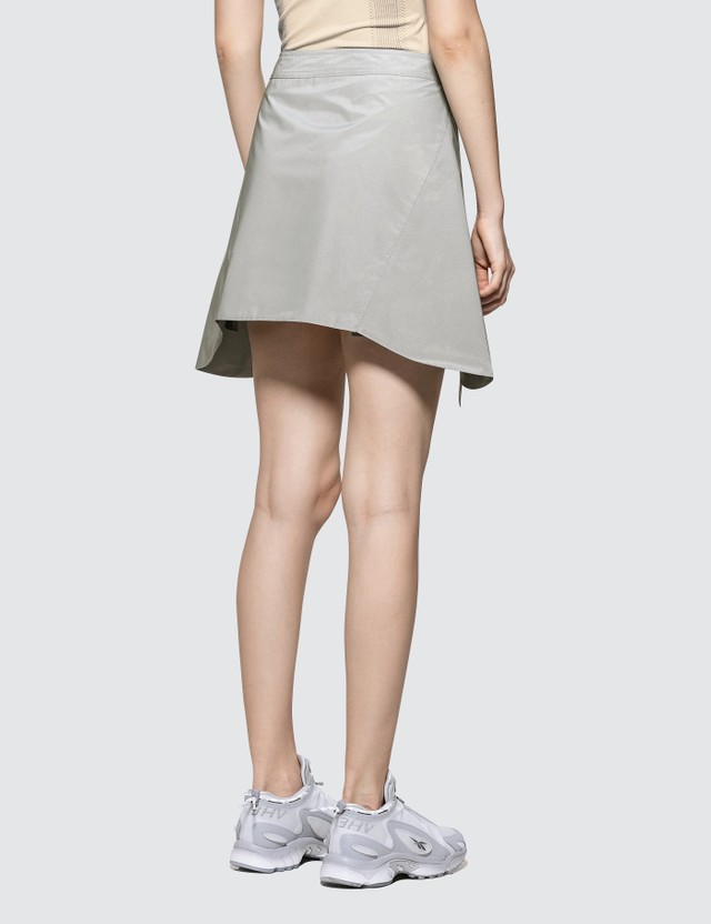 Misbhv Military Reflective Skirt White Women