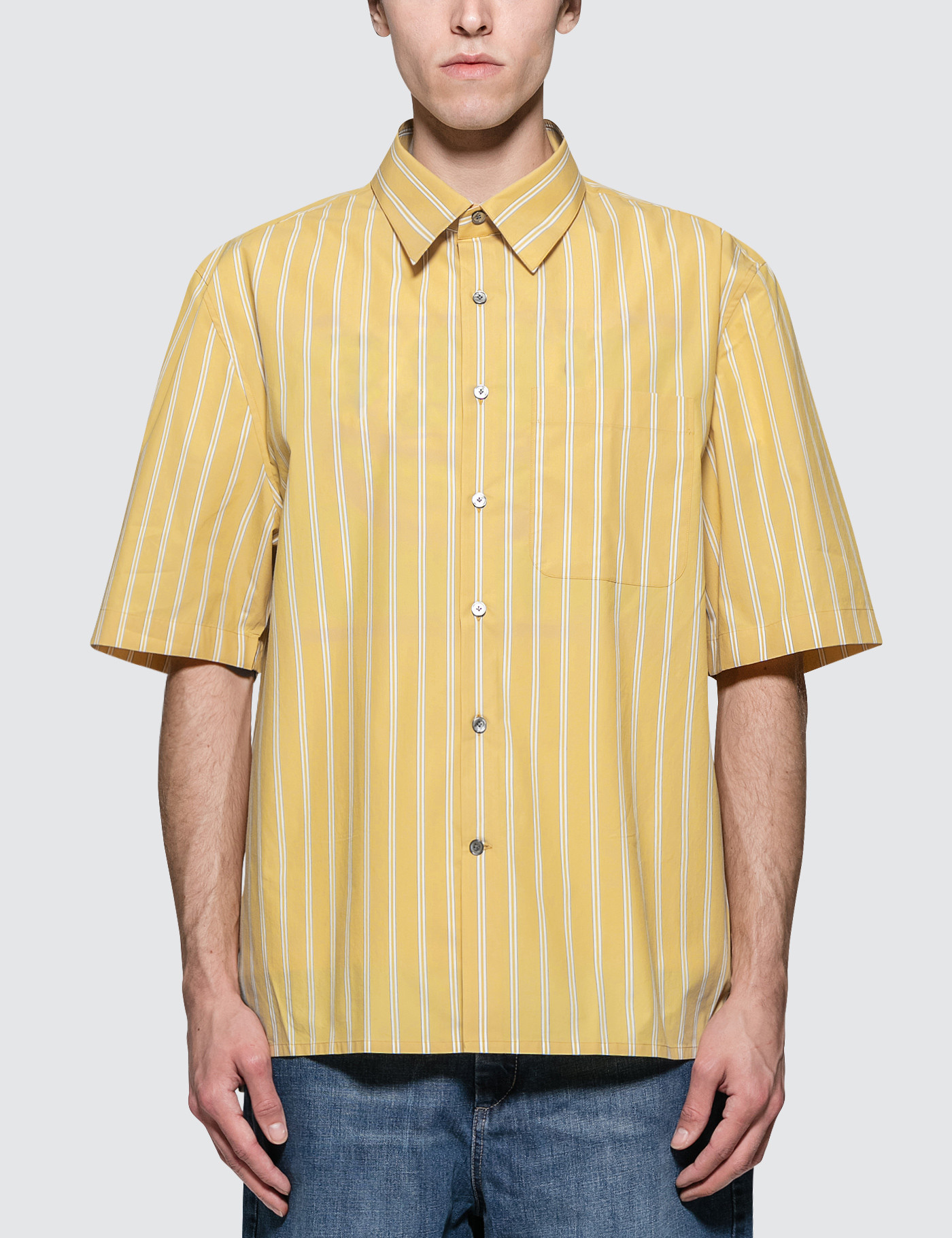 Oversized S/S Shirt with Chest Pocket