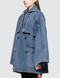 MSGM Denim Cape