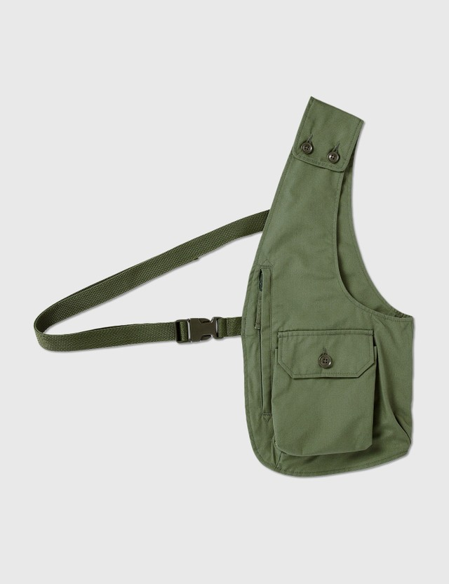 Engineered Garments Shoulder Vest Olive Men