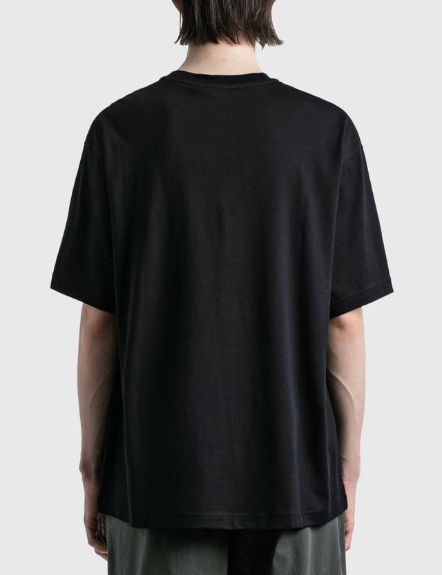 Acne Studios 엑스포드 페이스 티셔츠 Black Men