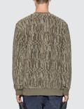 Stone Island Shadow Project Jacquard Cotton Polyester Teddy Sweatshirt