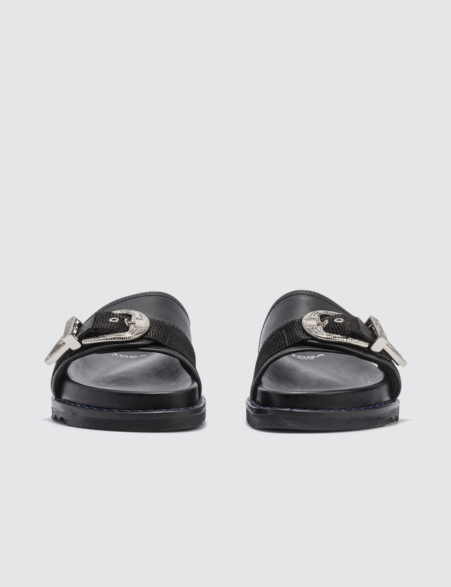 Toga Pulla Leather Sliders