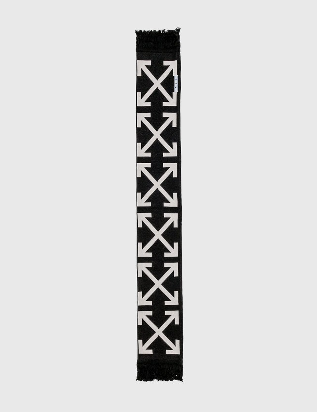 Off-White Intarsia-Knit Arrows Scarf Black Men