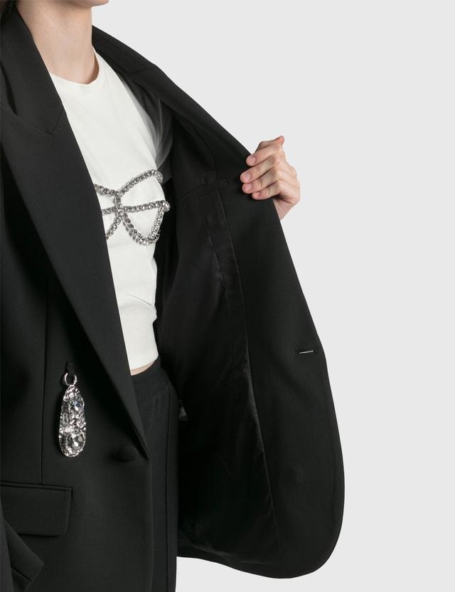 Area Hammered Pendant Men's Blazer Black Women