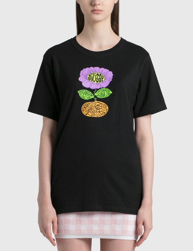Stussy Sunflower T-shirt Black Women