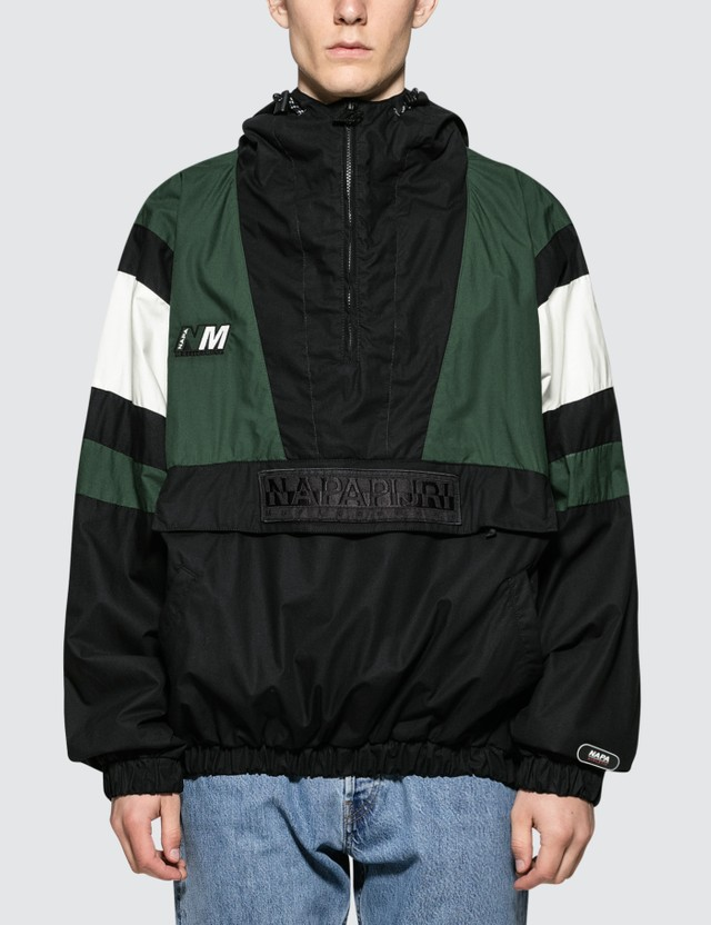 Napapijri x Martine Rose Retro Tracktop Black / Green / White Men