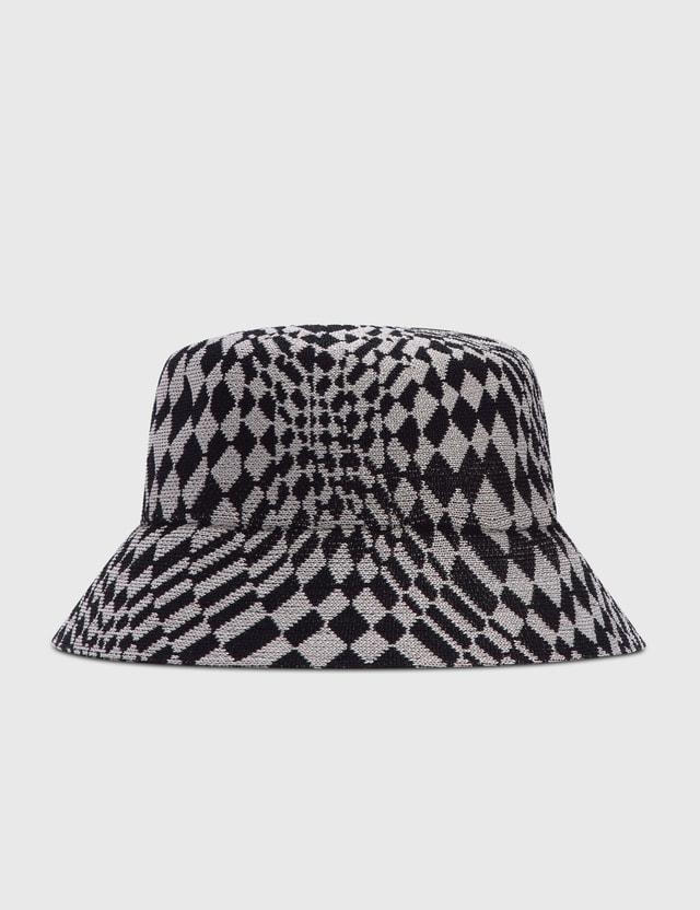 Kangol Warped Check Bucket Hat Black/grey Men