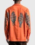 Wacko Maria Hawaiian Long Sleeve Shirt (Type-5) Orange Men